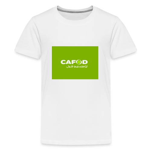CAFOD Logo greenback - Teenage Premium T-Shirt