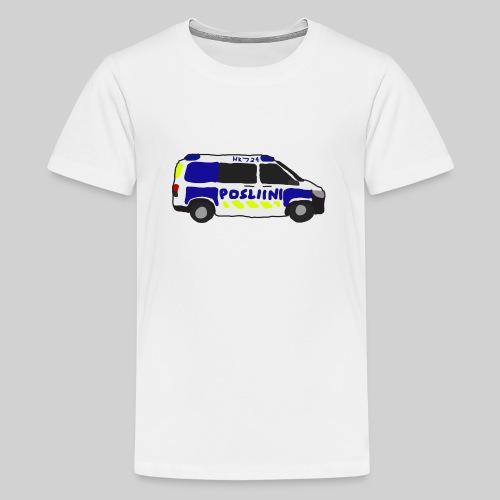 Posliini-Auto - Teinien premium t-paita