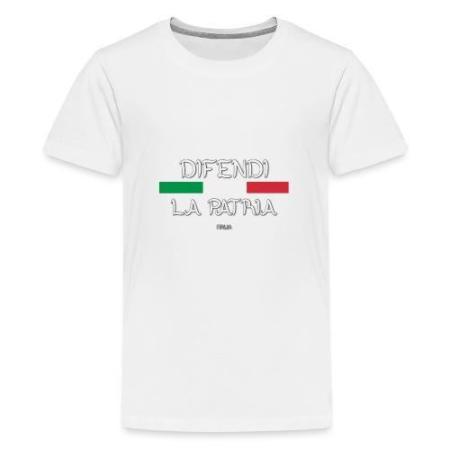 DIFENDI LA PATRIA - Maglietta Premium per ragazzi