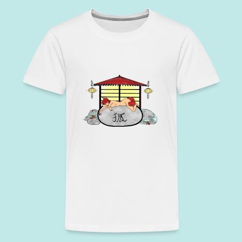 Déesse renard Inari jardin zen temple japonais - T-shirt Premium Ado