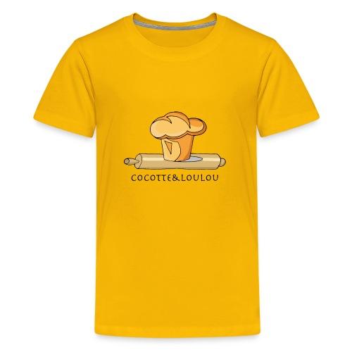 Brioche française et rouleau à patisserie - T-shirt Premium Ado