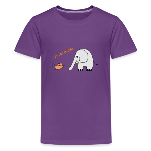 Elephant and mouse, friends - Teenage Premium T-Shirt