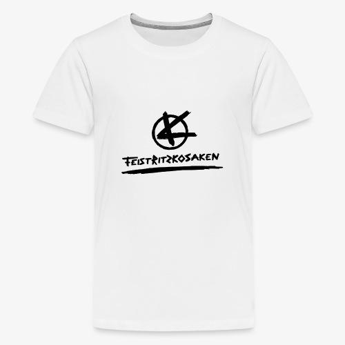 Feistritzkosaken Logo dunkel - Teenager Premium T-Shirt