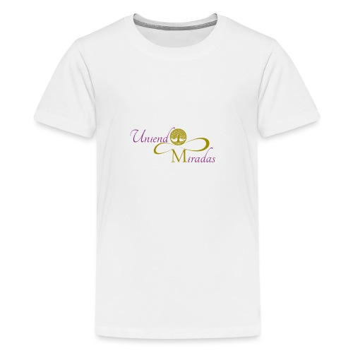 Uniendo Miradas Dorado - Camiseta premium adolescente