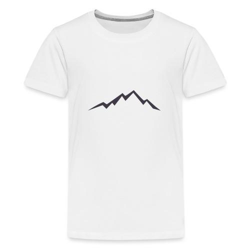 swiss alps clipart sihllouette ski mountains - Teenager Premium T-shirt