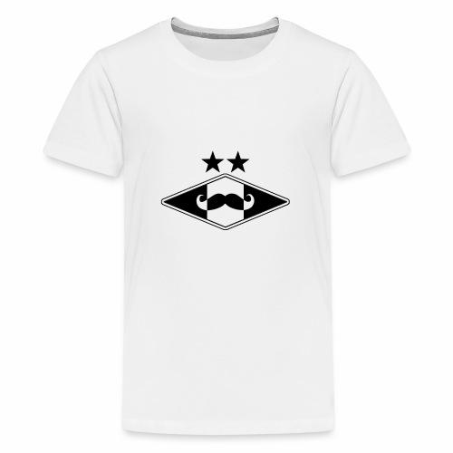 Mustache logo - Premium T-skjorte for tenåringer