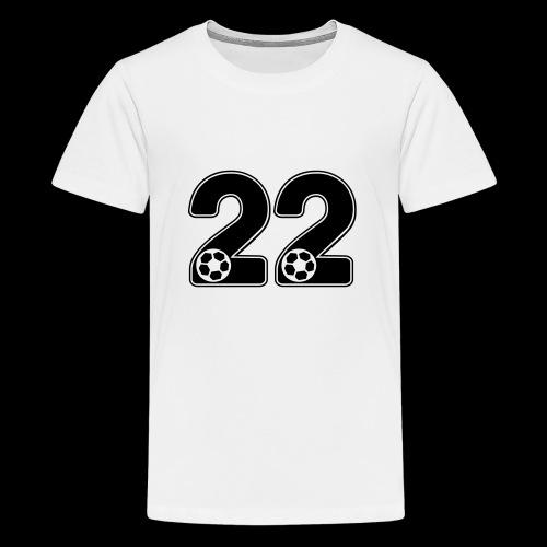 foot numero 22 - Teenage Premium T-Shirt