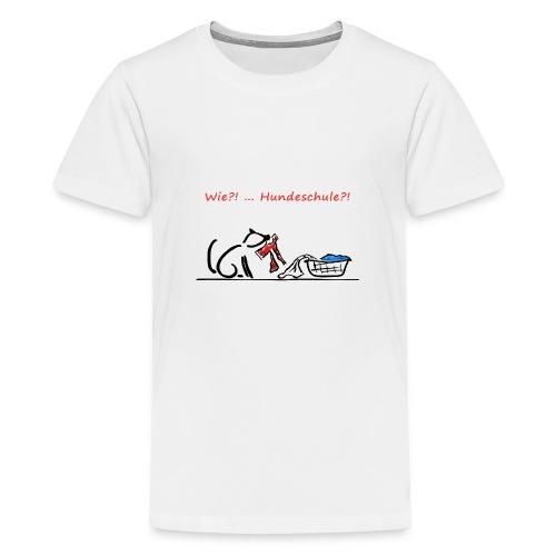 Wie? Hundeschule - Teenager Premium T-Shirt
