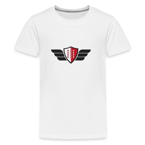 Flying Valais - Walliser Flagge mit Flügeln - Teenager Premium T-Shirt