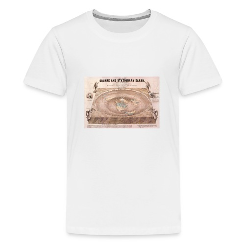 Earth in a square - Teenage Premium T-Shirt