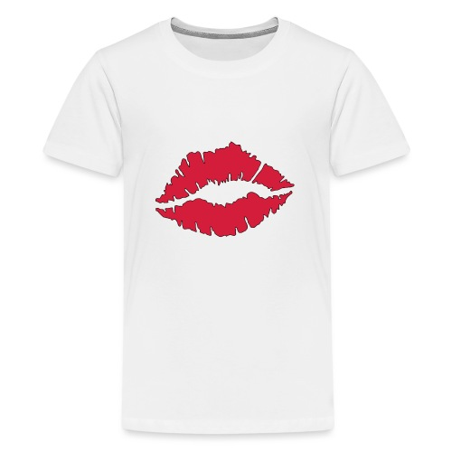 Lipstick Kisses - Teenage Premium T-Shirt
