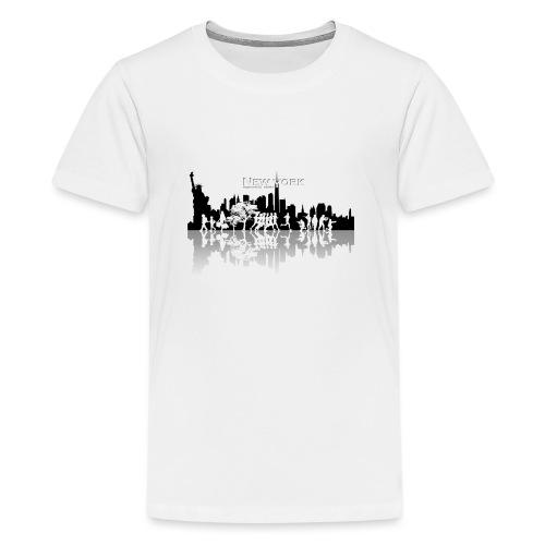 New York silhouette - T-shirt Premium Ado