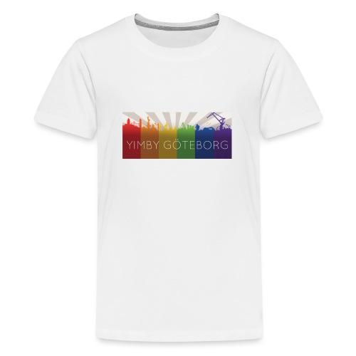 Yimby regnbågs-Tshirt - Premium-T-shirt tonåring