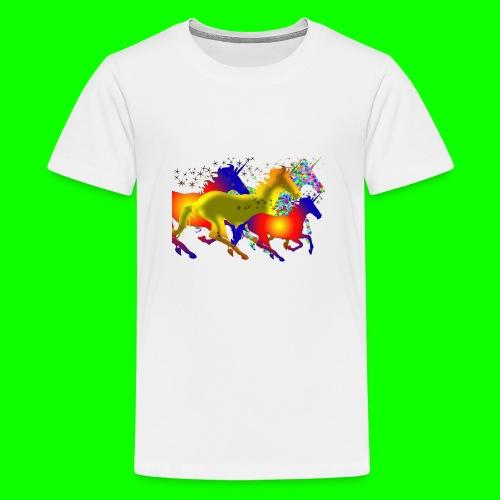 unicorn horses - Premium-T-shirt tonåring