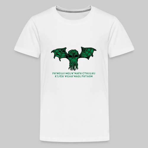Cthulhu Wings Fhtagn - Teenager Premium T-Shirt