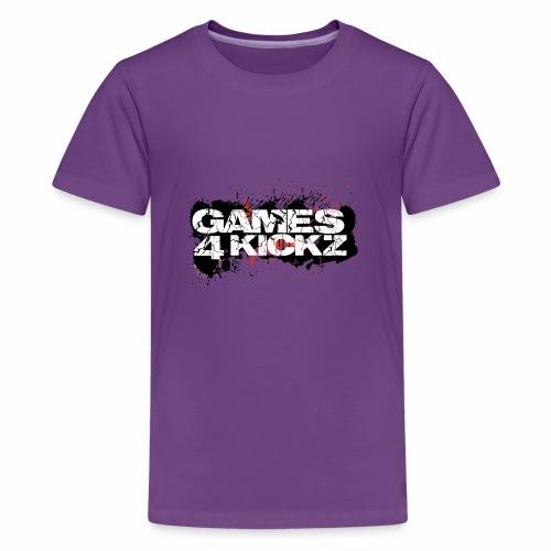 Games4Kickz Logo Splattered Background - Teenage Premium T-Shirt