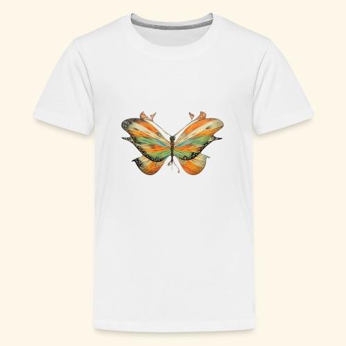 grande farfalla colorata - Maglietta Premium per ragazzi