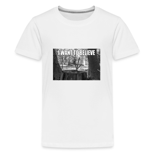 I want to believe - Teenager Premium T-Shirt