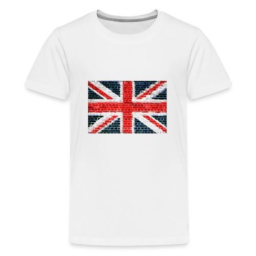 Union Jack Brick Wall - Teenage Premium T-Shirt