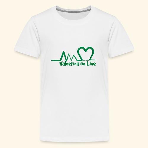 logo verde Associazione Valnerina On line - Maglietta Premium per ragazzi