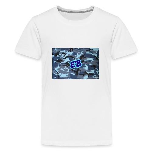 Ellibradyoffical blue camo - Teenage Premium T-Shirt