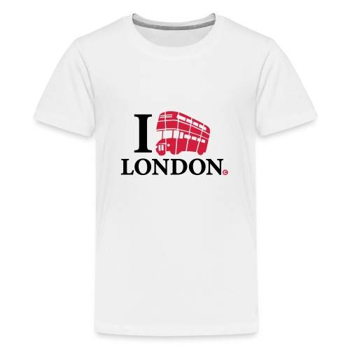 I love (Double-decker bus) London - Teenage Premium T-Shirt