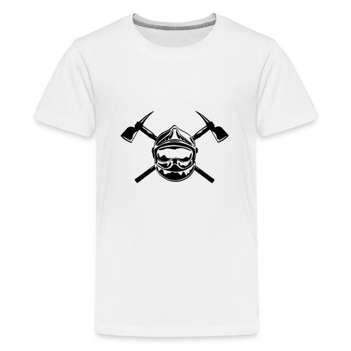 casque_pompier_2 haches - T-shirt Premium Ado