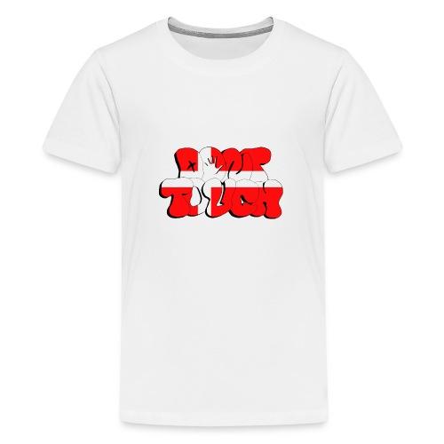 Graffiti don't touch DK - Teenager Premium T-Shirt