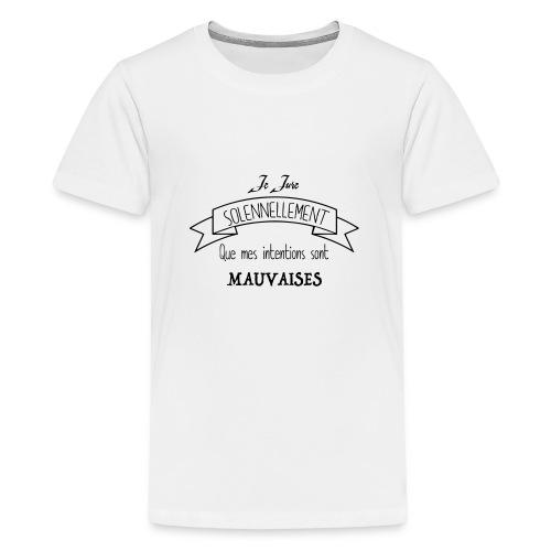 Je jure solennellement - T-shirt Premium Ado