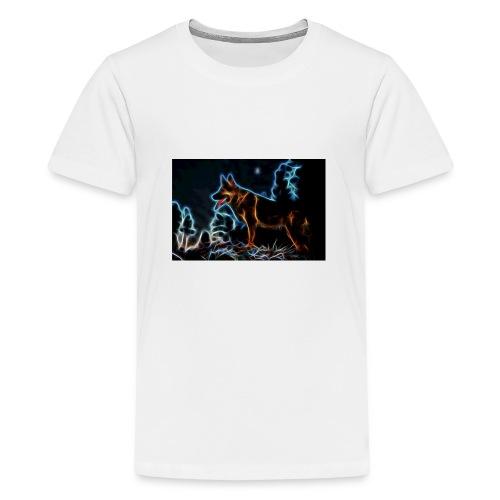 German shepherd - Premium-T-shirt tonåring
