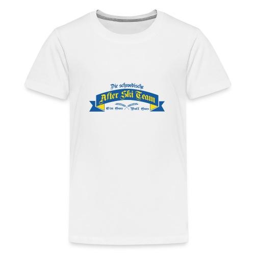 Apré Ski Team Sweden - Premium-T-shirt tonåring