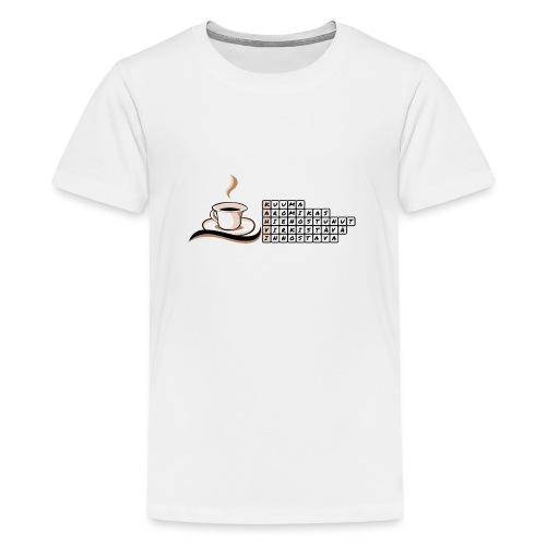 Kahvi-ristikko - Teinien premium t-paita