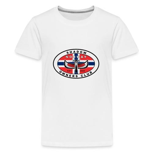 SHOC Norway Patch jpg - Premium T-skjorte for tenåringer