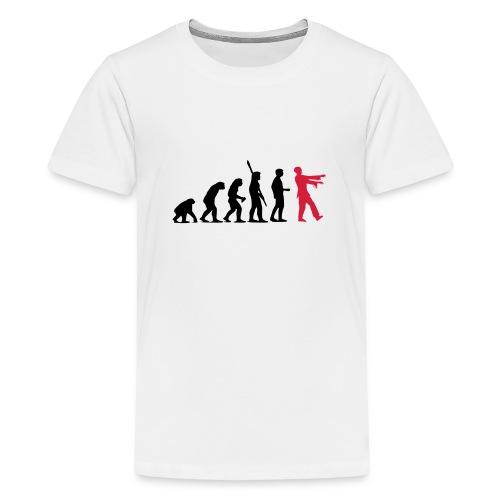 Zombie Evolution (zweifarbig) - Teenager Premium T-Shirt