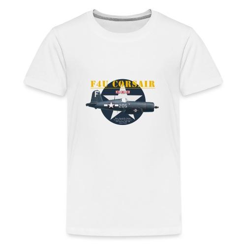 F4U Jeter VBF-83 - T-shirt Premium Ado