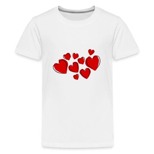 hearts herzen - Teenager Premium T-Shirt