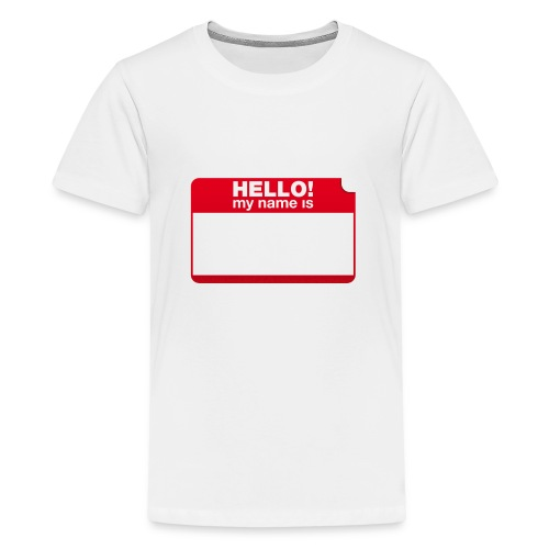Hello! my name is by Punktzebra brands - Teenager Premium T-Shirt