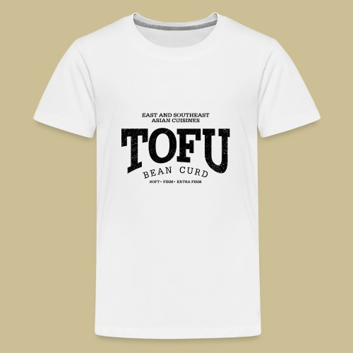 Tofu (black oldstyle) - Teenager Premium T-Shirt