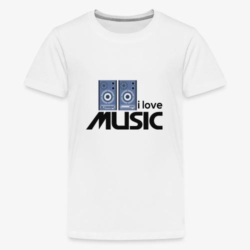 Amo la música 01 - Camiseta premium adolescente