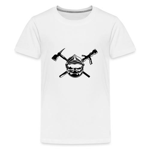 casque_pompier_hache et lance - T-shirt Premium Ado