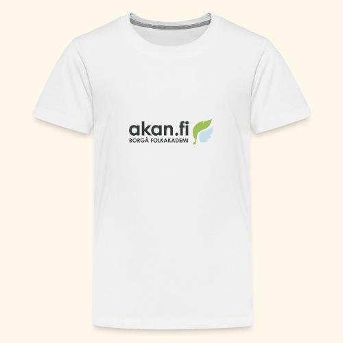 Akan Black - Premium-T-shirt tonåring