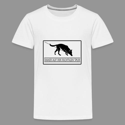 Fährtenhund - Teenager Premium T-Shirt