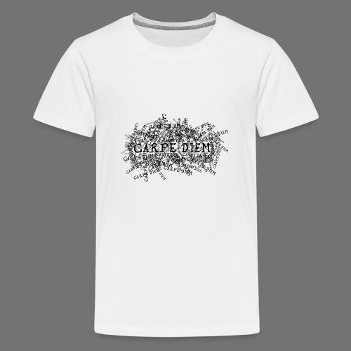carpe diem (black) - Teenage Premium T-Shirt