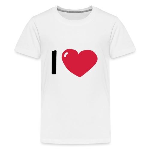 I love / I heart / I herz (Waldorf Style) - Teenager Premium T-Shirt
