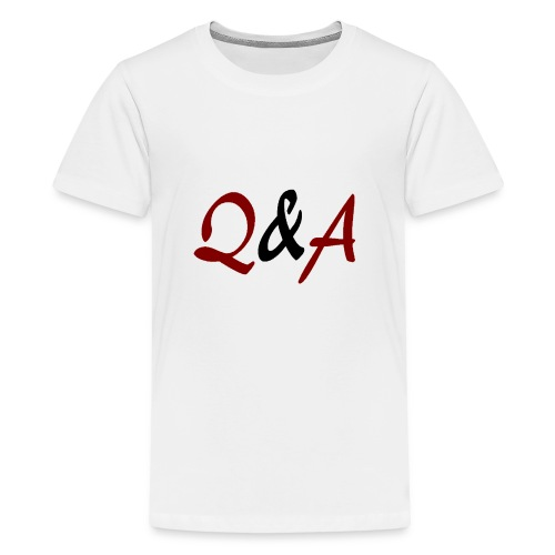 Q A - Teenager Premium T-Shirt