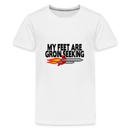 Ladies Casual Groin Seeking Missile Tshirt - Teenage Premium T-Shirt