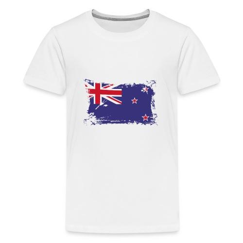 New Zealand Flag, Flagge Neuseeland - Teenager Premium T-Shirt