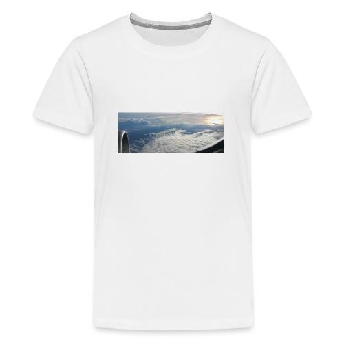 Flugzeug Himmel Wolken Australien - 2. Motiv - Teenager Premium T-Shirt