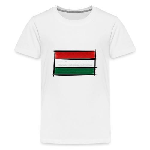 Art Flagge Ungarn - Teenager Premium T-Shirt