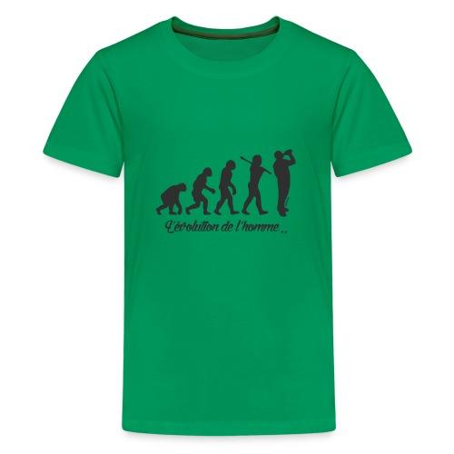 évolution homme (H) - T-shirt Premium Ado